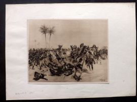 Henri Dupray 1902 Antique Military Print. Aboukir, 1801. Egypt